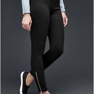 Gap ponte ankle zip black pants leggings